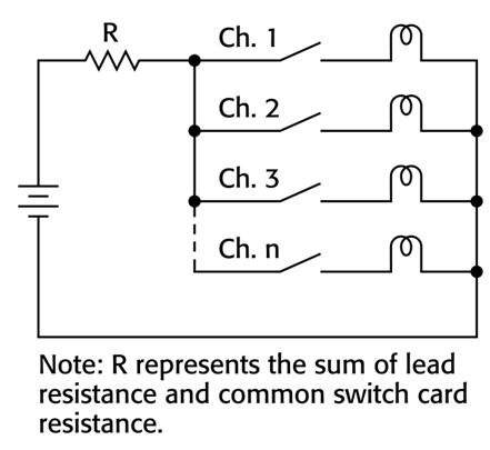 开关电阻   当把一个电压源切换到多个器件时,可能必须对开关