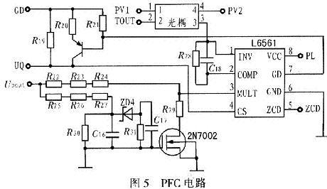 同时比较器lm258产生的信号dout通过光耦,三极管,可控硅等传输至器件