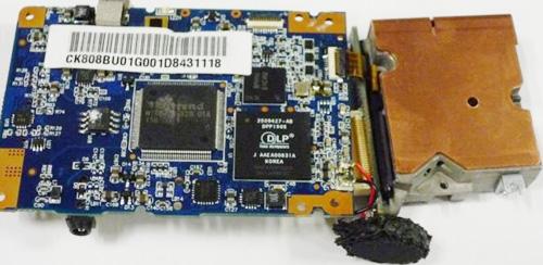 PK101的影像处理芯片以及DMD驱动芯片