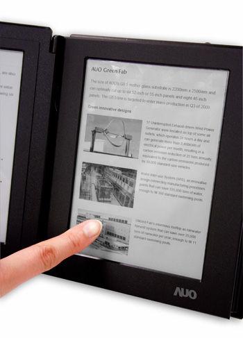 友达首度发表内建触控功能的6吋电子书