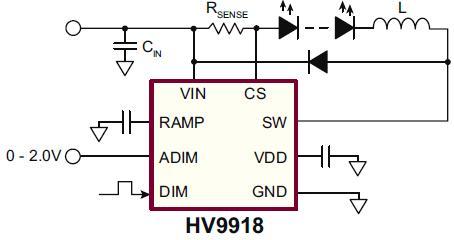 HV9918典型应用电路