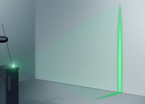 实验室可靠数据证明:凭借新研发的直接发光绿色激光,欧司朗光电半导体在移动激光投影领域开创了一个重要的新里程碑。图片来源:欧司朗