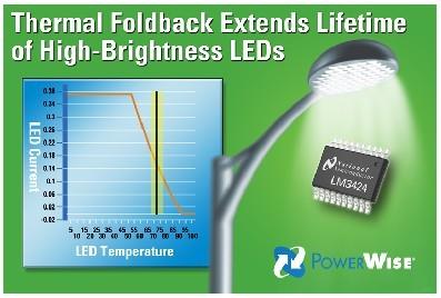 美国国家半导体公司 (National Semiconductor Corporation)宣布推出一款具有温度管理控制功能的全新LED驱动器,并推出相应的在线设计支持工具。这款型号为LM3424的LED驱动器是美国国家半导体PowerWise® 系列高能效系列芯片中一款新品