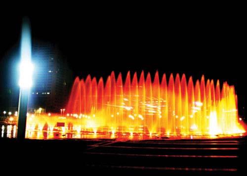 烟台滨海广场LED喷射灯