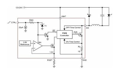 CAT4201 1~3W DC/DC LED方案。