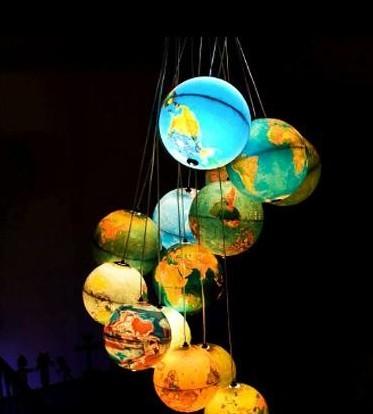 低碳环保的地球LED仪吊灯
