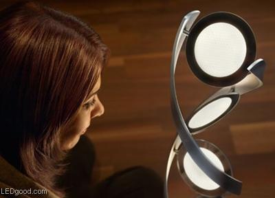 优美的双螺旋OLED灯