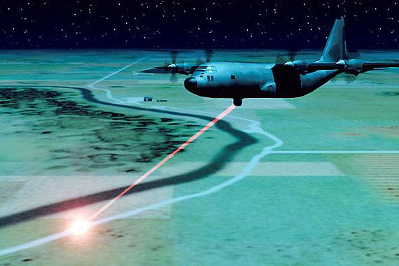 美国空基激光武器作战示意图