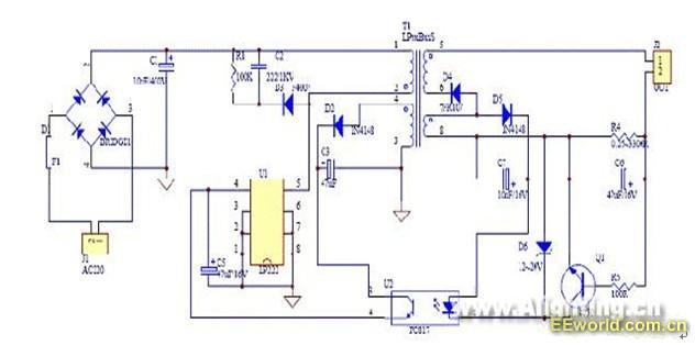 隔离LED驱动电源原理图
