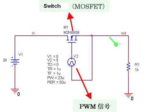 运用PWM信号的降压电路