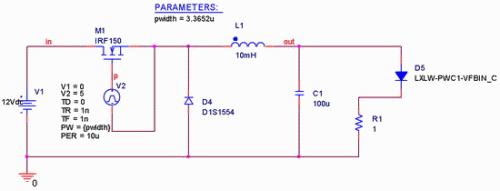 PWM驱动电路降压转换的例子