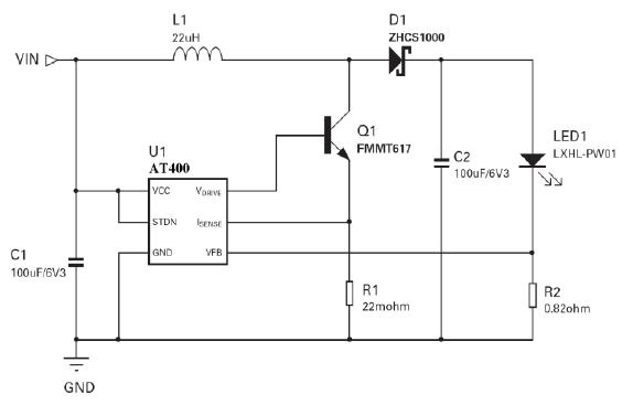 1W LED驱动典型应用电路