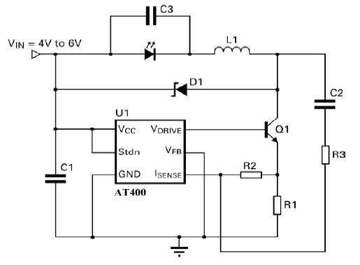 1W/3W降压LED驱动应用电路