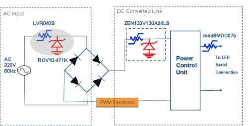 led灯具电源及驱动电路的保护设计图片
