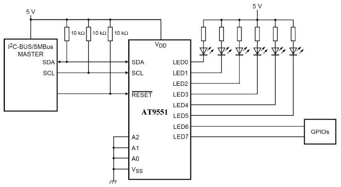 AT9551典型应用电路图
