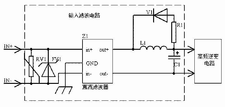 l1,c1组成低通滤波电路,当l1电感值较大时,还需增加如图所示的v1和r1