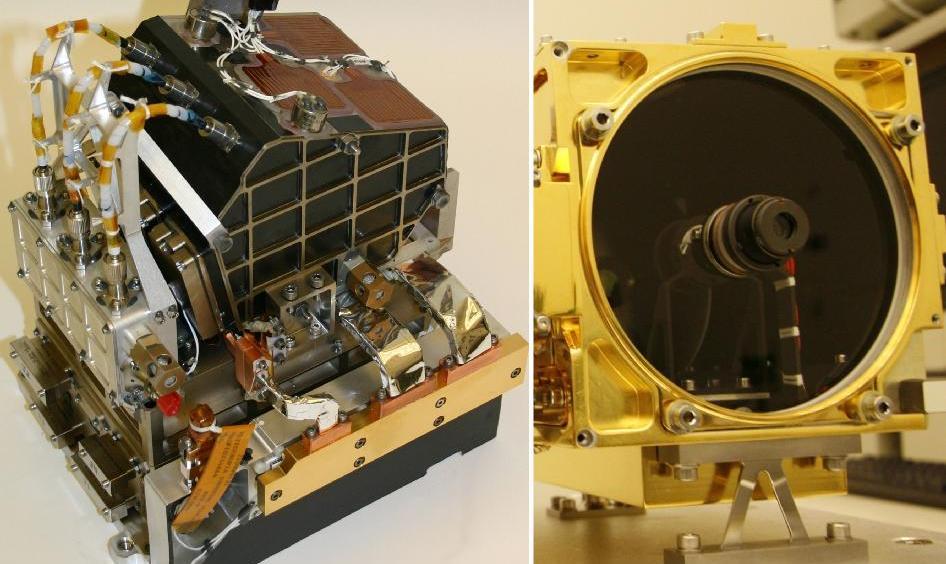 """据美国aviationweek网站2010年9月24日报道,美国喷气推进实验室的技术人员们正准备在NASA的火星科学实验室上安装一个独特的设备,可以让这个大型的漫游者在7米之外分析岩石和土壤的化学成分。      这个名为""""化学摄像机""""(ChemCam)的设备由美国和法国联合研制,利用掺钕钨酸钾钆Nd:KGW激光,使目标的某一点物质出现蒸发,并使用激光诱导分解光谱技术对蒸发地点释放的光束进行分析。激光还能激起火星灰尘,对岩石之下进行分析。      ChemCam安装在900千"""