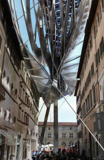 """""""能源屋顶""""能够同时利用太阳能和风能两种方式发电。"""