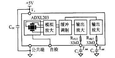 ADXL203加速度传感器原理图
