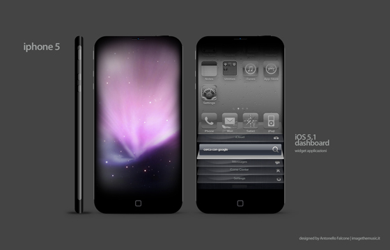 屏幕iphone5墨镜苹果,4.6英寸概念v屏幕挑战想象力(图)金属框超大手机图片