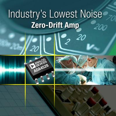 业界最低电压噪声的零漂移放大器-ADA4528