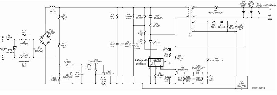 14WLED驱动电路原理图