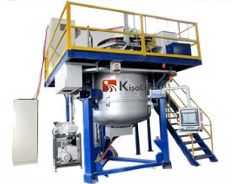 该铸锭炉真空部分采用机械泵与罗茨泵的组合结构,抽空时间为38分钟