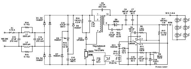18w无源pfc led照明驱动设计