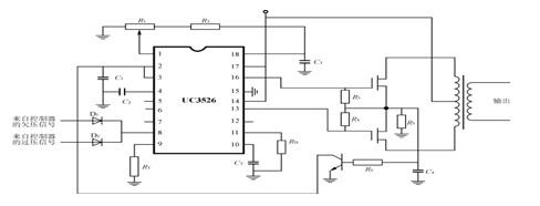 来自充放电控制器的欠压信号通过d1接到输出关断端8