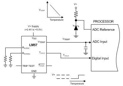 LM57集成电路应用