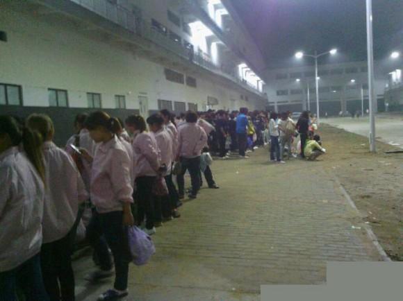 郑州富士康5日凌晨爆发千人大罢工