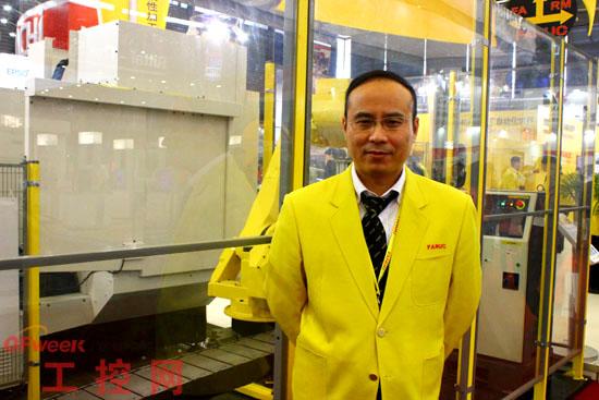 上海发那科机器人销售科长李晔