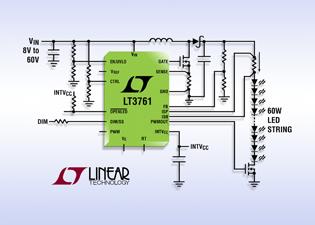 凌力尔特推出具备内部PWM发生器的60V LED控制器