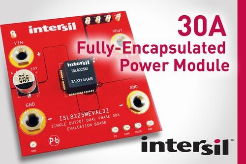 Intersil推出业内首款30A全密封式电源模块