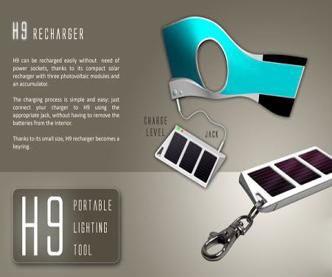 太阳能手电手套