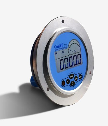 康斯特推出ConST211数字压力表轴向型