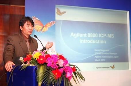 安捷伦科技的ICP-MS全球产品经理Naoki Sugiyama先生