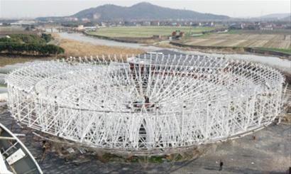 电天文望远镜工程紧张施工中