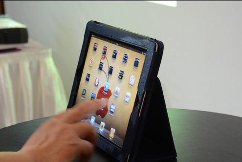 触控操作iPad