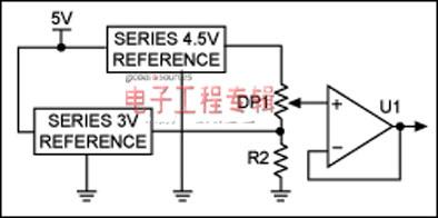 图2. 用两个电压基准替代设计