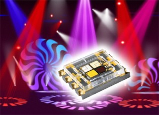 全新 OSRAM Ostar Stage LED 适用于明亮的颜色混合聚光灯