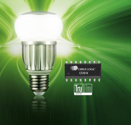 Cirrus Logic首款数字LED控制器可与在全球能够找到并测试的每一个调光器实现接近100%的兼容