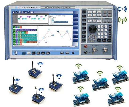 2个独立的ZIGBEE传感器网络空中协议采集和分析演示