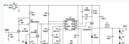 利用负输出电压,以升降压拓朴调节恒定 LED 电流