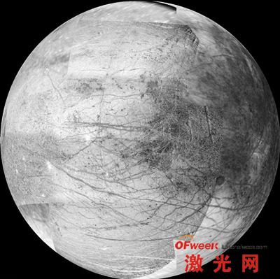 2000年3月6日拍摄的木卫二表面高分辨率图像