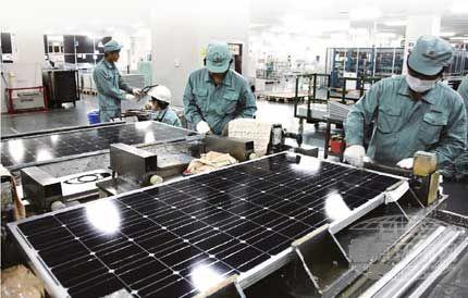 第一大企业尚德电力的工厂向全球供应廉价的太阳能电池