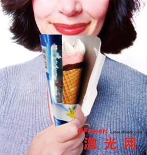 激光打孔用于冰激凌包装