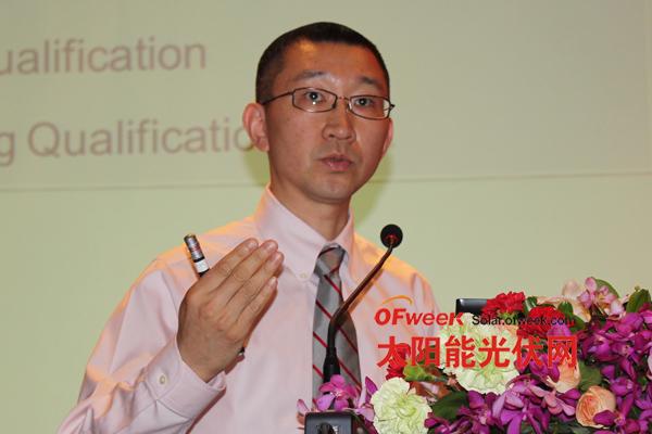 应用材料公司中国区太阳能市场和销售部的产品总监祝波