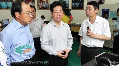楼阳生调研武汉锐科光纤激光公司