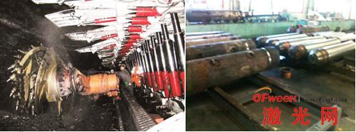 激光熔覆修复应用于煤炭行业机械制造